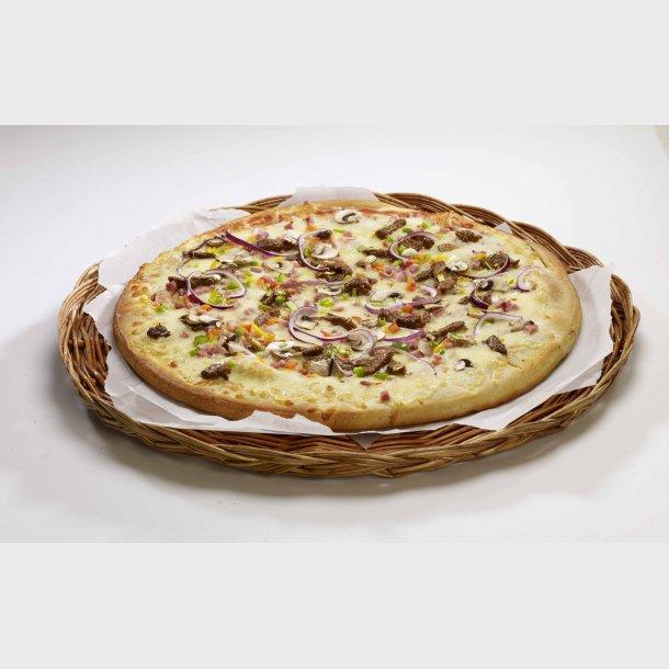 Slåtto Pizza med Biff